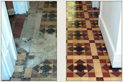 Palace Victorian Mosaic Tile Hallway And Pathway Restoration Kent